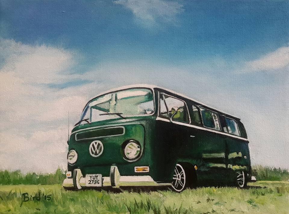 "Oil on canvas 12""x9"" £150"