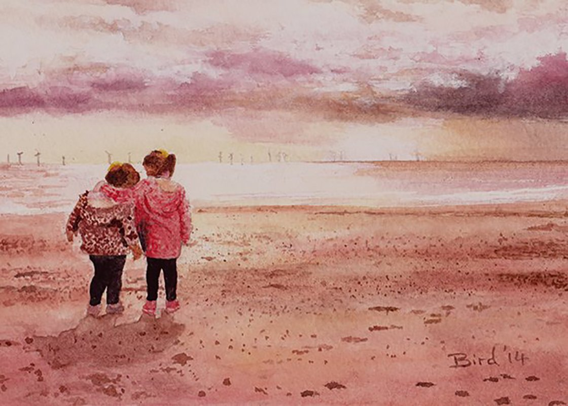 Kids On The Beach - SOLD